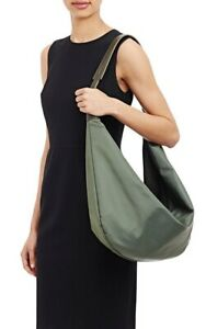 The Row Nylon Sling 15 Shoulder Crossbody Bag Olive Green Olsen Twins Italy