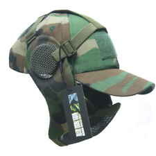 Tactical Foldable Mesh Mask With Airsoft Paintball Baseball Cap CL