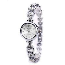 Lvpai Fashion Women Girl Watch Luxury Rhinestone Bracelet Watches Gifts (Silver)