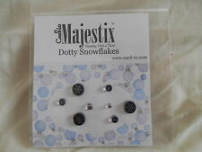 New Card-io Majestix Clear Stamps Peg Stamps Christmas Dotty Snowflakes
