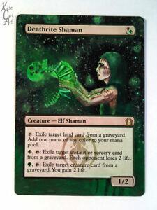 Deathrite Shaman - Hand Painted MTG Alter - Magic - Kate Cart Art