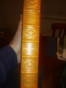 "1975 HUCKLEBERRY FINN By MARK TWAIN ""FRANKLIN LIBRARY"" Limited Edt LEATHER BOOK"