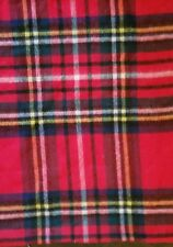 NEW WILLIAMS SONOMA RED PLAID LAMBSWOOL PILLOW COVER SHAM
