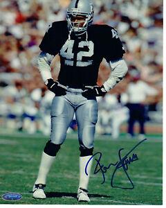 Ronnie Lott Oakland Raiders Signed 8x10 Photo Tri Star