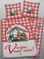 SHEEPWORLD * VERGISS MEIN NICHT !* LINON WENDE BETTWÄSCHE, 2 TLG. 135x200, NEU
