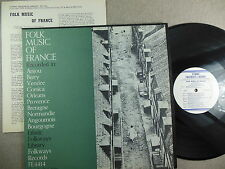 FOLKWAYS RECORDS: Folk Music of France- FE 4414- Original from 1951 w/ booklet