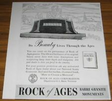 1943 AD~ROCK OF AGES BARRE GRANITE MONUMENTS~VERMONT
