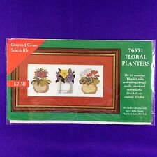 "La colección de arte Cross Stitch Kit ""Floral Macetas"""
