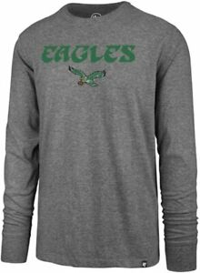 Philadelphia Eagles Men's Throwback Logo Super Rival Long Sleeve Shirt - Gray