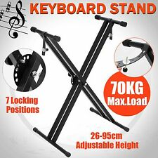 Folding Music Keyboard Stand Height Adjustable Solid Piano Braced X Type Holder