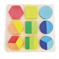 Wooden Shape Sorter Puzzle Board Educational Toy Kids Jigsaw Blocks Colour Game