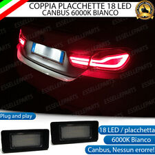 COPPIA PLACCHETTE LED LUCI TARGA 18 LED BMW X3 F25 6000K NO ERROR