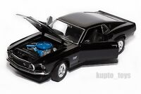 1969 Ford Mustang Boss 429 Black , Welly 24067, scale 1:24, model car gift