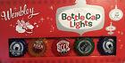 Wembley Holiday Beer Bottle Cap Lights 10 Multi-Color String Light Set New