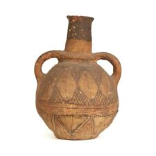 ANTIQUE OVER PAINTED AFRICAN NIGERGIAN WATER POT 19TH C.