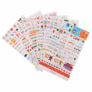 6-Sheet Cute Transparent Calendar Diary Book Scrapbook Decoration Stickers