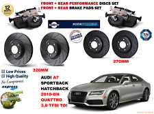pour Audi A7 3.0TDI HB SB 10- AVANT & Arrière Performance Kit Disque frein +