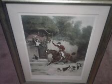 THE HUNTSMAN'S COURTSHIP LITHOGRAPH PRINT BY SAMUEL E WALLER