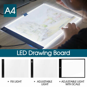 A4 LED Light Box Tracing Drawing Board Art Design Pad Copy Lightbox Day & Light