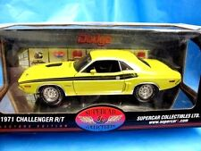 1/18 HIGHWAY 61 SUPERCAR COLLECTIBLES YELLOW 1971 CHALLENGER R/T MIB