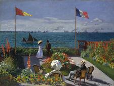 Terrasse von Sainte Adresse Claude Monet Vater Segelschiffe Bütten H A3 0428