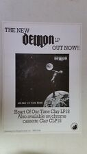 """DEMON """"Heart of Our Time"""" Full Page AD magazine clipping nwobhm"""