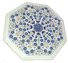 """12"""" marble sofa side table top fine inlay Handicraft marquetry room decor gift"""