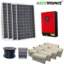 Off Grid Solar Kit | 2250W Solar | 19kWh AGM Batt Bank | 5KVA / 4kW Inverter/...