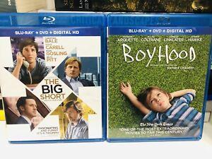 Boyhood & The Big Short (Blu-ray/DVD, 2-Disc Sets) No Digital Best Picture Noms