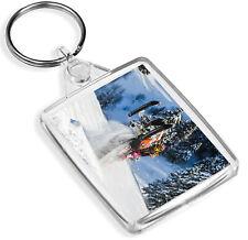 Snow Mobile Stunt Riding Keyring Winter Adrenaline Snowboarding Gift #16051