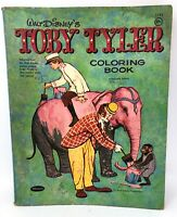 Vintage 1959 Toby Tyler Coloring Book Walt Disney Elephant Monkey Circus Clown
