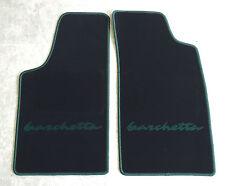 Autoteppiche Fußmatten für Fiat Barchetta  schwarz grün 2teilig  Neuware