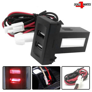 Vw Transporter T4 In Dash Dashboard Panel Dual RED Usb Port Charger Power Outlet