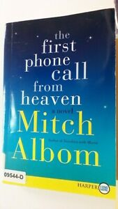 THE FIRST PHONE CALL FROM HEAVEN A Novel Mitch Albom Softcover BOOK