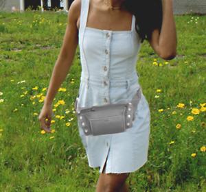 Hammitt Charles Drizzle Leather Convertible Belt Bag NWT $395