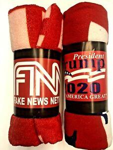 President Trump 2020 Keep America Great + FNN  Red Beach Towel (2 Towels Total )