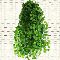 2.4m Fake Plastic Begonia Leaf Garland Plants Vine Foliage Flower Home Decor DSU