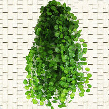 2.4m Fake Plastic Begonia Leaf Garland Plants Vine Foliage Flower Home Decor 0Q