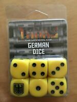 TANKS BNIB German Dice Set (6 Dice) GFNTANKS20