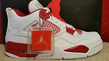 NIKE AIR JORDAN RETRO 4 IV Size 12 Alternate 89 White Red 308497-106 Mens Shoes