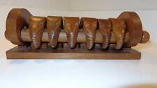 Wood Elephant Napkin Ring Set