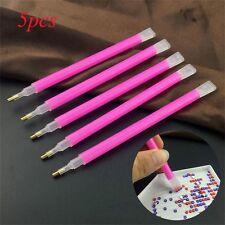 5Pcs/set Dual-ended Beauty Pink Dotting Pen Gem Picker Manicure Tool Nail Art