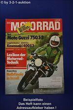 Motorrad 5/76 Moto Guzzi 750 Kawasaki 400 Yamaha XT 500