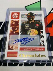 Martin Truex Jr. 2021 Chronicles GOLD Parallel Autograph #'d 3/10
