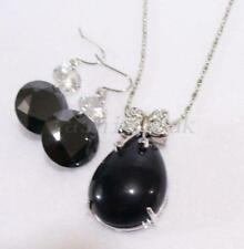 White Gold Plated Agate Costume Jewellery Sets