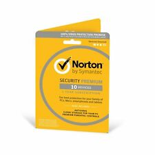 Norton Internet Security PREMIUM 2019 10 PC / Devices 1 Year PC/Mac/iOS/And 2018