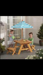 KidKraft Patio Set with Umbrella