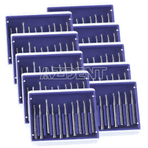 Dental FG330 High Speed Tungsten Steel Carbide Burs Pear-shaped 19mm 10pcs/box
