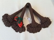 Handle Cover Crochet Louis VuittonLV SPEEDY 25 30 35 ALMA GORGEOUS dark brown