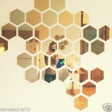 Acrylic Hexagon wall decor - 20 Golden mirror JB042G20